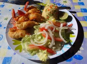 shrimp lunch