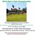 Men's Golf Club Championship, March 16 & 18, 2017
