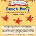 Castaway Kids Beach Party: March 26, 2017