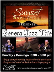 Sonora Jazz Trio at Sunset Bar Grill