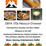 Olé Mexico Dinner: February 25, 2017 | SBPA Fundraiser