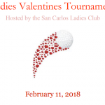 Valentine's Golf Tournament, February 11, 2018