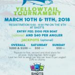Yellowtail Fishing Tournament, March 10 - 11, 2018