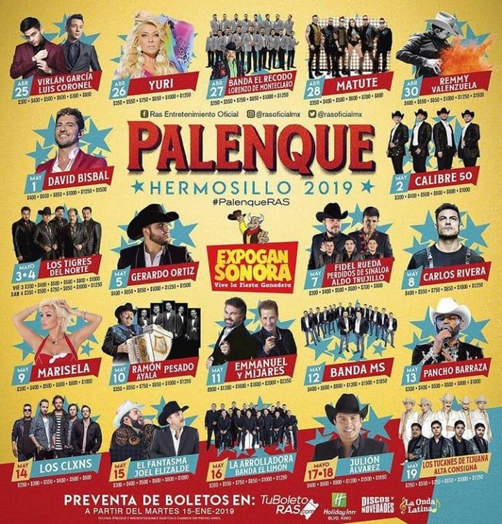 Expogan Hermosillo Expogan Sonora 2019 Palenque 2019